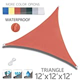 Love Story 12' x 12' x 12' Triangle Orange Red Waterproof Sun Shade Sail Perfect for Outdoor Patio Garden