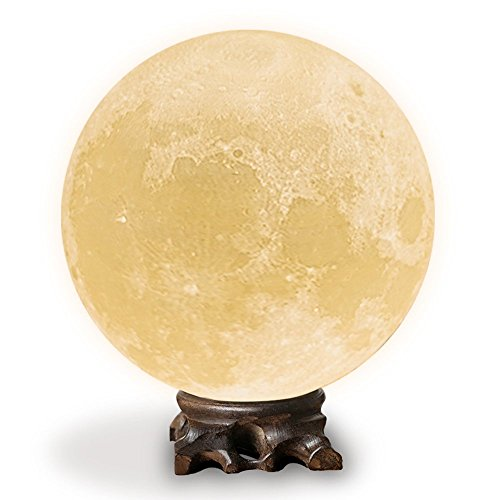 Mydethun Moon Lamp Moon Light Night Light for Kids Gift for Women USB Charging and Touch Control Brightness 3D Printed Warm and Cool White Lunar Lamp For Sale