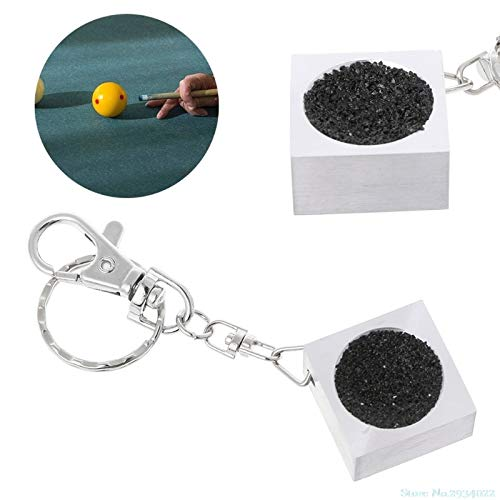Susie-Smile - New 1Pc Portable Keychain Billiard Cue Tip Shaper Snooker Pool Scuffer Table Tool sale