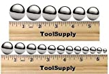ToolSupply 18CNSET Chromium Steel 18 Piece Coin Ring Making Ball Assortment (Pack of 18)