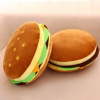 OAMORE Lovely Peluche Enorme hamburguesa manta decorativa almohada juguetes