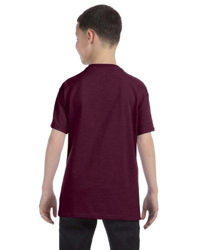 Hanes Youth 6.1 oz. Tagless T-Shirt, XL, MAROON