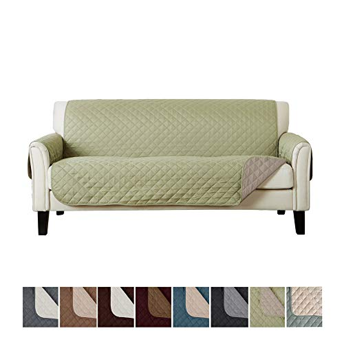 Green Tea Furniture - Home Fashion Designs Deluxe Reversible Quilted Furniture Protector. Perfect for Families with Pets and Kids. (Sofa/Couch, Tea Green)