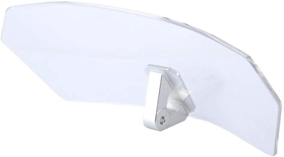 Ebtools Universal Motorrad Einstellbare Windschutzscheibe Windabweiser Windschutz Scheibe Fit Für Die Meisten Motorrad Transparent Auto