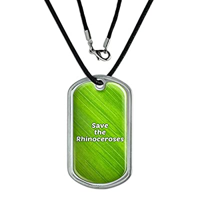 Graphics And More Dog Tag Pendant Necklace Cord Save The Endangered Animals Species K-Z -
