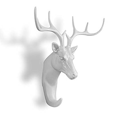 spove ganchos de pared cabeza de ciervo Único pesados ...
