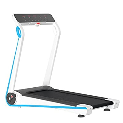 IUBU Fitness Folding Treadmill Touch Screen App Control Free Installation Smart Electric Motorized Running Machine For Home ¡