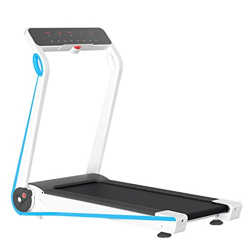 IUBU Fitness Folding Treadmill Touch Screen App Control Free Installation Smart Electric Motorized Running Machine For Home