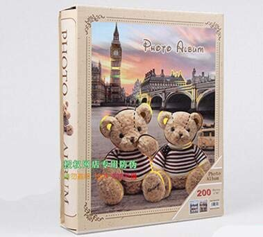 SULYMY | Photo Albums | Teddy Bear Photo Album Scrapbook Interleaf Type Classical 2017 New 200 Sheets 6 Inch Photo Album with Paper Cover for $<!--$38.99-->