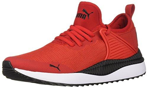 PUMA unisex-kids Pacer Next Cage Jr Sneaker, high Risk red Black, 4.5 M US Big Kid
