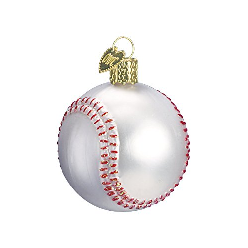 Old World Christmas Ornaments: Baseball Glass Blown Ornaments for Christmas Tree -