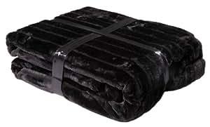 Vinnemeier manta de microfibra, 150 x 200 cm, negro