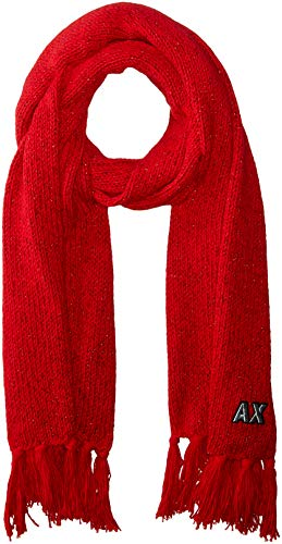 A|X Armani Exchange Women's AX woven scarf, bloody mary, TU