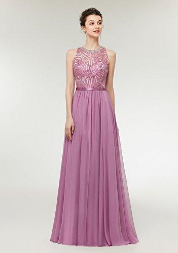 Formal Silk Light Gown Beaded Prom Women's Dresses Chiffon Evening CuteShe Long Blue Dress qx5pzUnw