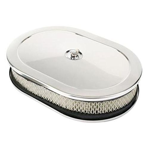 Chrome Air Cleaner, Oval, 12 Inch Speedway Motors