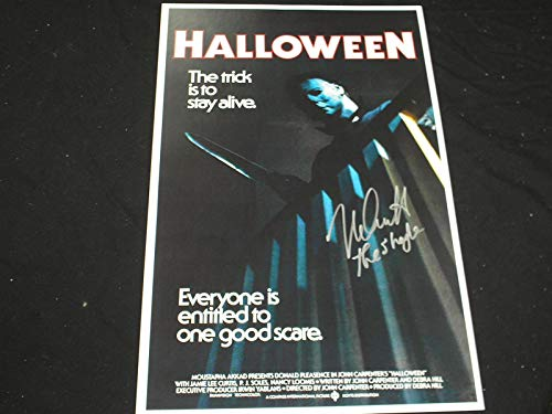 NICK CASTLE Signed Halloween 11x17 Poster The Shape Michael Myers A -