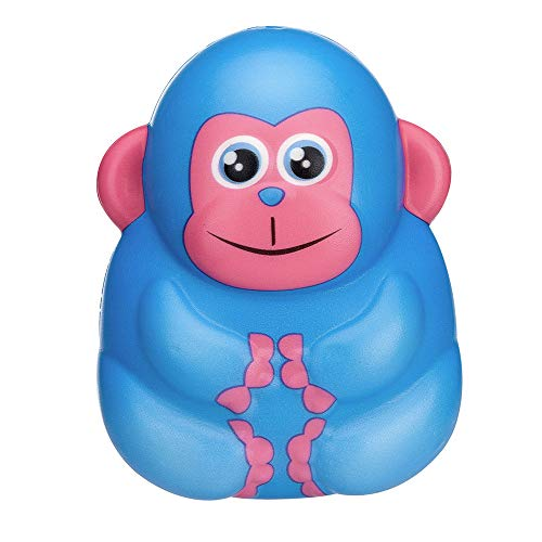 Celiy Squishies Toy Kawaii Monkey Slow Rising Cream Scented Stress Relief Toys Gifts (Blue) ()