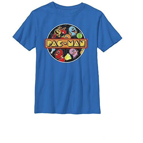 Pac-Man Boys' Character Circle Royal Blue T-Shirt