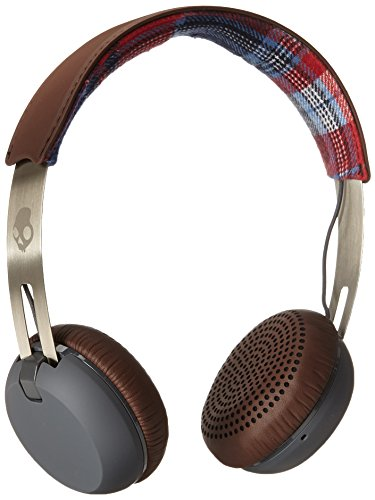 Click to buy Skullcandy Grind On-Ear Headphones with Built-In Mic, Americana Plaid and Grey - From only $28.99