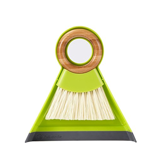 Full Circle Tiny Team Mini Brush and Dustpan Set, Green from Full Circle