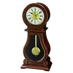 SEIKO Wooden Pendulum Mantle/Mantel Quartz Battery Clock with Westminster or Whittington Chime, Volume Control QXQ035B