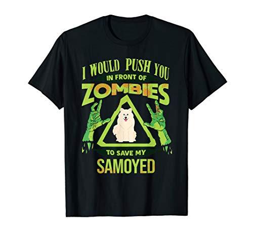 Samoyed Lover Funny Zombie T Shirt ()