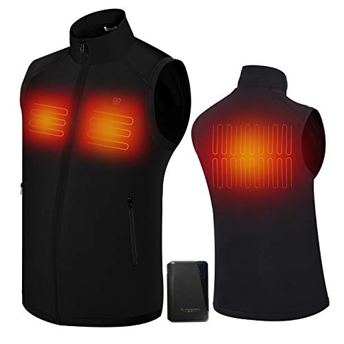 Electric Heated Jackets for Men | Heated Vest/Jacket with 3.7V Battery Pack | Keeps You Warm for Longer | Adjustable Temperature | Portable & Washable | for Indoor & Outdoor Use