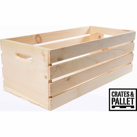 Crates and Pallet X-Large Wood Crate Made of Smooth, Unfinished Pine