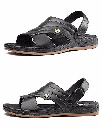 Das neue Dualer Gebrauch Sandalen Sommer Männer draussen Sandalen Atmungsaktiv Schuh Strand Schuh Freizeit Sandalen ,schwarz,US=6.5,UK=6,EU=39 1/3,CN=39