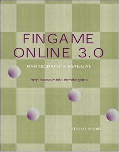 FinGame Online 3.0, Participants Manual