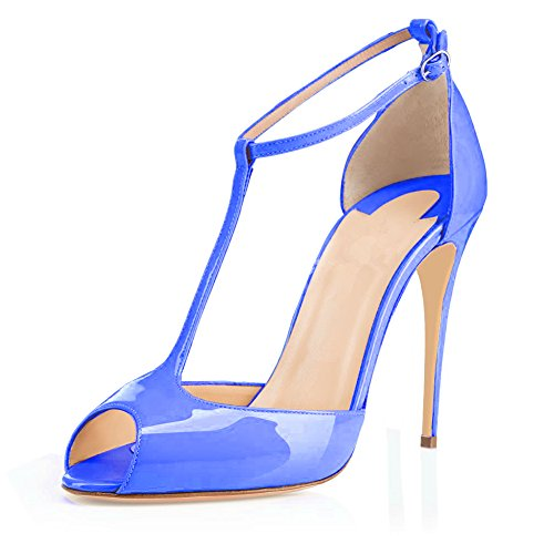 Eldof Womens High Heel Sandals| Peep Toe T-strap 10cm for sale  Delivered anywhere in Canada