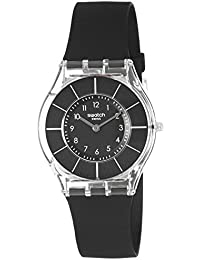Womens Classiness Quartz Plastic and Silicone Watch, Color:Black (Model: SFK361)