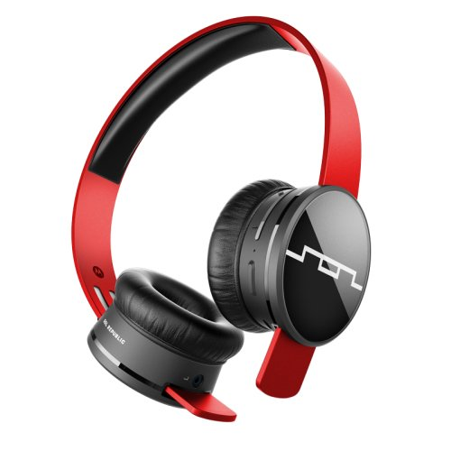 SOL REPUBLIC 1430-03 Tracks Air Wireless On-Ear Headphones, Vivid Red