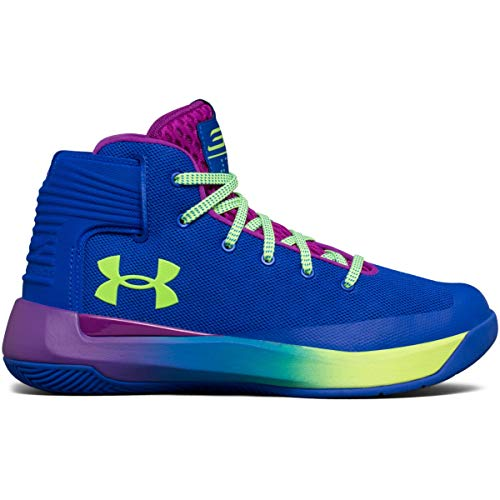 Under Armour Boy's Grade School Curry 3Zero Shoes Team Royal/Purple Rave/Quirky Lime Size 6.5 M US ()