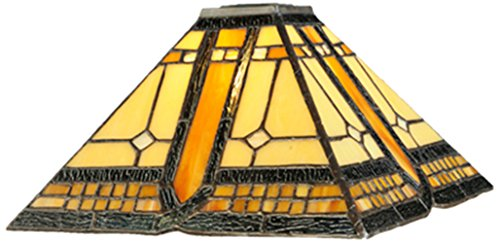 Meyda Tiffany 137958 Sierra Prairie Mission Lamp Shade, 14'' Width by Meyda Tiffany