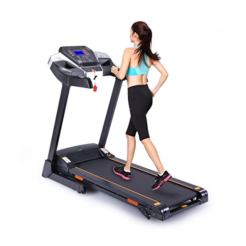 UMAY Bluetooth Motorized Treadmill/Speakers/MP3 & Folding for Running & Walking