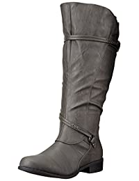 Brinley Co Women's Olive-Xwc Riding Boot