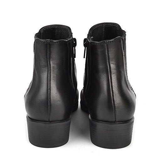 Kanna Chaussures Nola Bottines en cuir Noir Femme Noir XdoOYjQ1