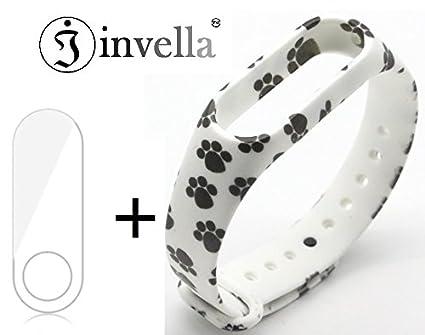 Mi Band 2 & Mi Band HRX Designer Belt/Strap with Screen Guard by invella