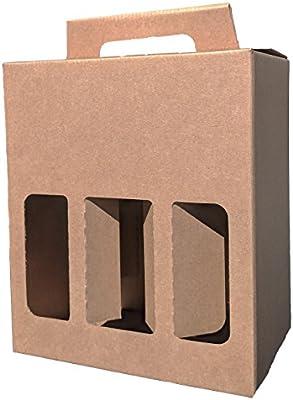 Botella de cerveza y sidra, caja de cartón resistente para 6 botellas de 500 ml – un excelente regalo o idea de regalo para ocasiones especiales – ideal para cumpleaños/día del padre/Navidad,