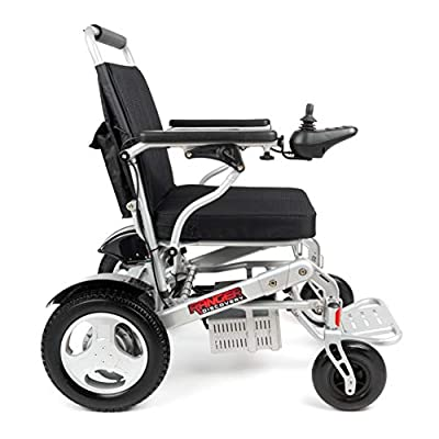 """Porto Mobility Ranger D09-S, No.1 Best Rated Exclusive Portable Power Wheelchair, Lightweight, Foldable, Heavy Duty, Dual Battery, Dual Motor Electric Wheelchair - 18.5"""" Seat Width (Free Travel Case)"""