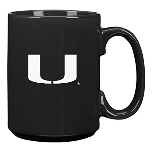 University of Miami-15 oz. Ceramic Mug-Black ()