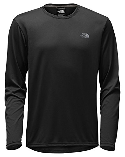 Face Long Sleeve Shirts (The North Face Men's Long-Sleeve Reaxion AMP Crew TNF Black/Mid Grey Small)