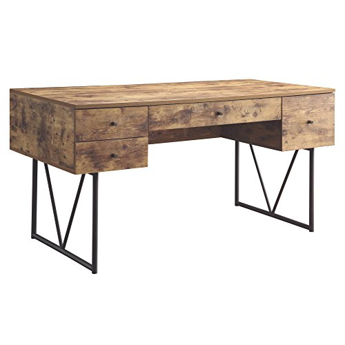 Asian Modern Furniture - Coaster Home Furnishings Analiese Writing Desk - Antique Nutmeg