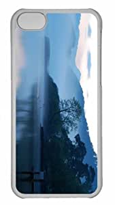 Customized iphone 5C PC Transparent Case - Early Morning Lake Personalized Cover