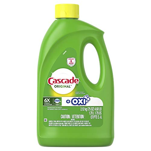 (Cascade Gel + Oxi, Dishwasher Detergent, 75 fl oz)
