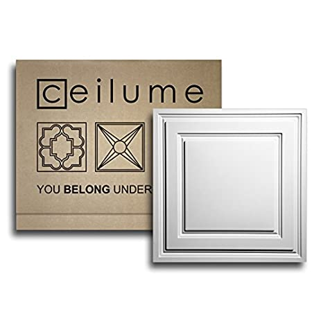 Unusual 12 Ceiling Tiles Thick 12 Inch Floor Tiles Shaped 16 Ceramic Tile 18X18 Ceramic Floor Tile Young 18X18 Ceramic Tile Brown2 X 4 Ceiling Tiles Amazon.com: 6 Pc.   Ceilume Oxford White 2 X 2 Lay In Ceiling ..