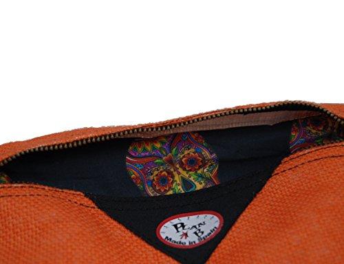 Bolso dos 23x17 Valencia Plan Clutch compartimentos de mano pequeño Hecho mujer de España con natural Creaciones en yute a En bolso B Mano 04wXqxaEX