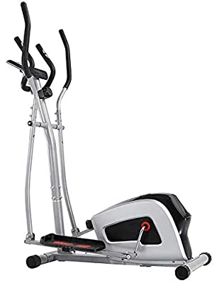 Epicord-Crystal Compact Magnetic Elliptical Machine Trainer with LCD Monitor and Electronic Watches & Hand-Holding Heartbeat Watches