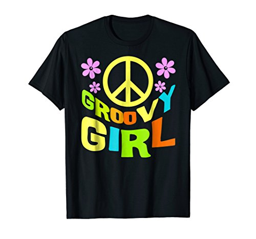 Groovy Girl | 60s 70s Themed Costume Party Wear Outfit Tee ()